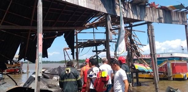 Balsa que transporta combustível explodiu e deixou 4 pessoas feridas e outra desaparecida