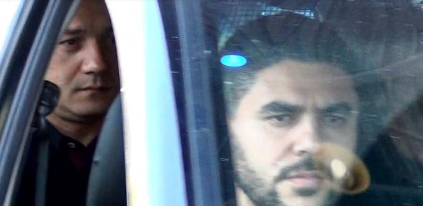 13.set.2017 - Wesley Batista deixa sede da PF para audiência de custódia após ser preso