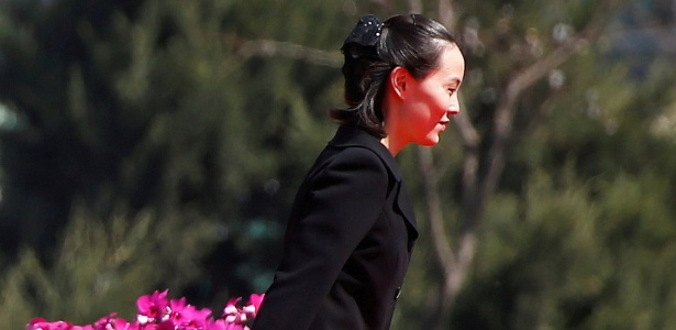 13.abr.2017 - Kim Yo-jong, irmã de Kim Jong-un, em um evento em Pyongyang