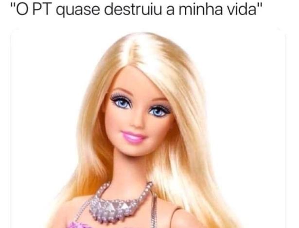 Meme que usa bonecos da Barbie e do Ken satiriza críticas da elite no Brasil - Reprodução/Twitter
