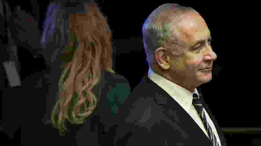 O primeiro ministro de Israel Benjamin Netanyahu - Nelson Almeida/AFP
