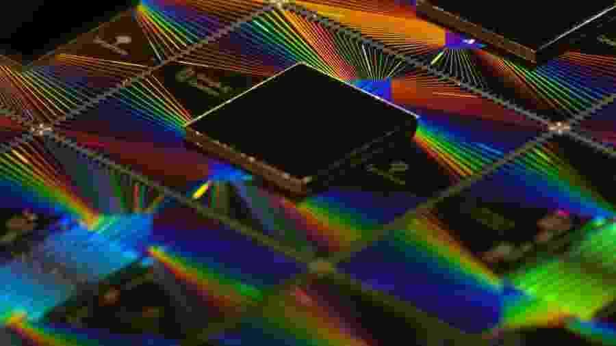 Sycamore, chip do computador quântico do Google, que atingiu a supremacia quântica - Divulgação