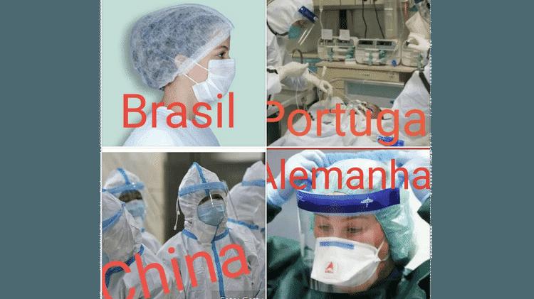 Para especialista, equipamentos de proteção individual do Brasil, quando não estão em falta, são suficientes para proteger contra infecção - Reprodução - Reprodução