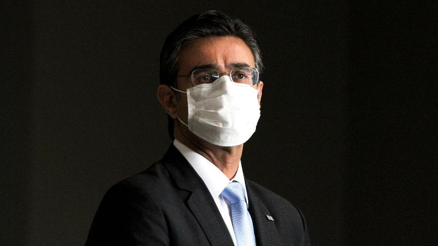 Vice-governador de São Paulo, Rodrigo Garcia, durante coletiva da pandemia do coronavírus - Bruno Escolastico/Photopress/Estadão Conteúdo