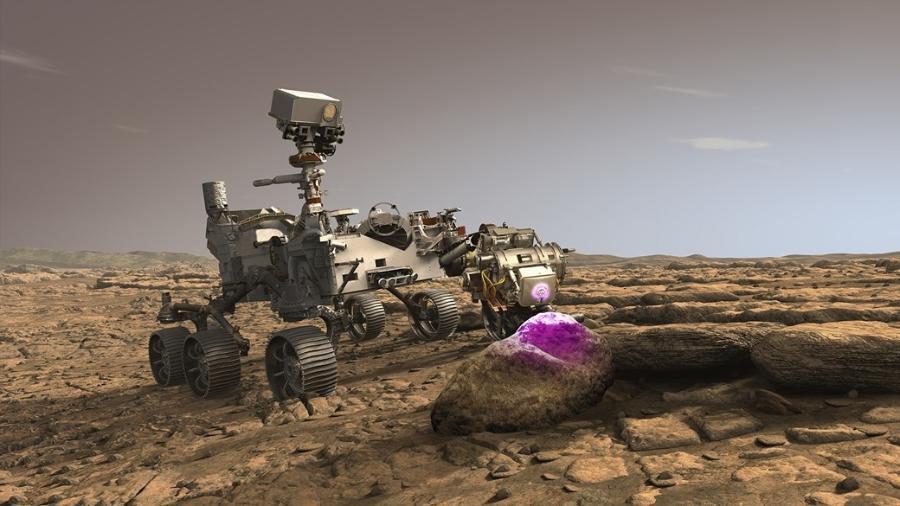 Rover da Nasa escaneará rochas em busca de vida - Divulgação/Nasa