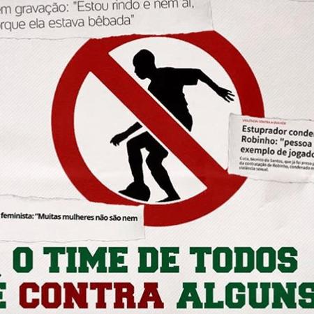 """Torcida do Fluminense protesta contra Robinho: """"O time de todos é contra alguns"""" - Reprodução/Instagram"""