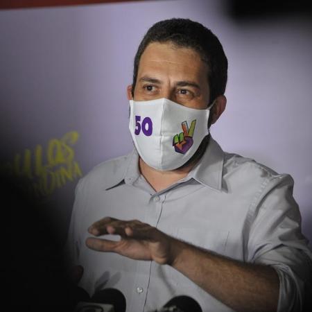 15.nov.2020 - Boulos voltou a criticar a fala de seu adversário no segundo turno, Bruno Covas (PSDB), que o qualificou como radical - Reinaldo Canato/UOL