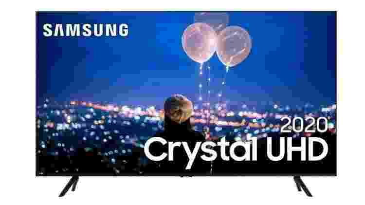 """Smart TV LED 50"""" 4K Cristal UHD Samsung - Divulgação - Divulgação"""
