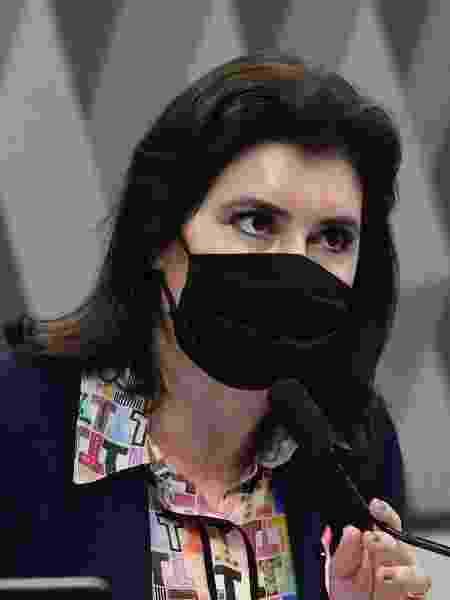 A senadora Simone Tebet (MDB-MS) durante sessão da CCJ (Comissão de Constituição e Justiça) - Edilson Rodrigues/Agência Senado