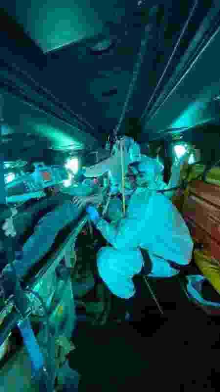 FAB realiza resgate de homem em navio estrangeiro - Divulgação/FAB - Divulgação/FAB
