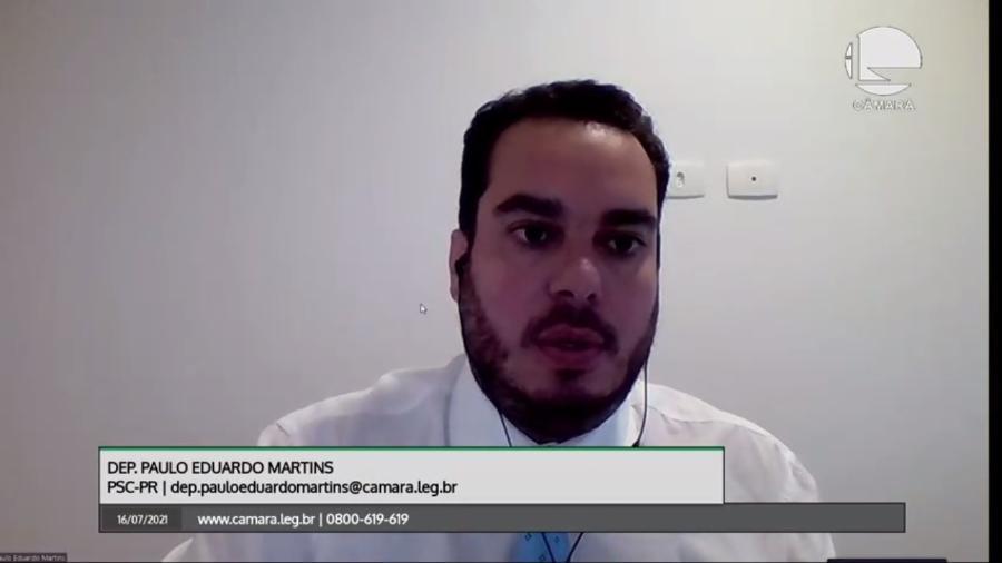 Paulo Eduardo Martins em sessão da PEC - Reprodução