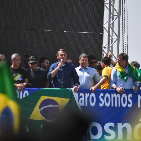 7.set.2021 - O presidente Jair Bolsonaro (sem partido) discursa para apoiadores durante ato pró-governo em Brasília - ANTONIO MOLINA/ESTADÃO CONTEÚDO