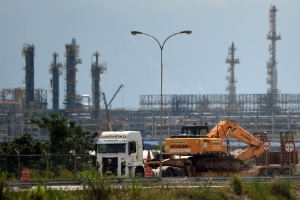 Obras da Petrobras no complexo do Comperj, no Rio de Janeiro