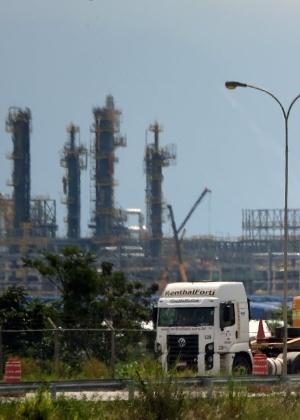 Obras no complexo do Comperj, no Rio de Janeiro, alvo de investigações da Lava Jato