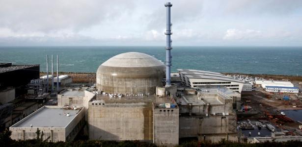 A usina nuclear de Flamanville, na França