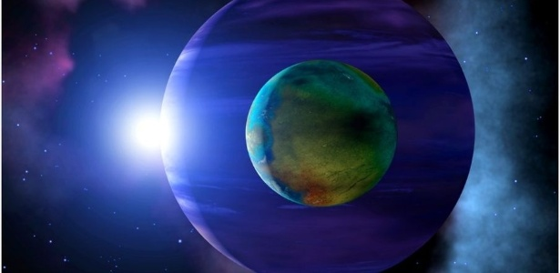 Ilustração: onde há exoplanetas, possivemente há exoluas