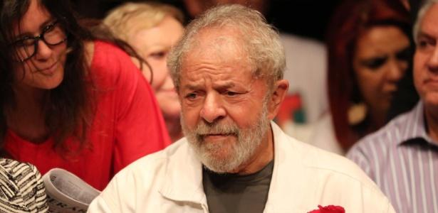 13.dez.2017 - O ex-presidente Luiz Inácio Lula da Silva participa de evento com petistas em Brasília