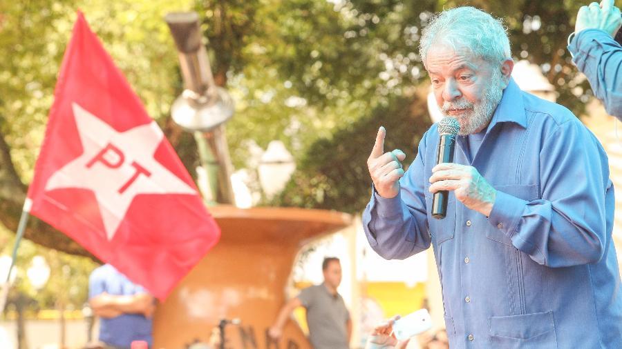 26.mar.2018 - O ex-presidente Luiz Inácio Lula da Silva - Daniel Teixeira/Estadão Conteúdo