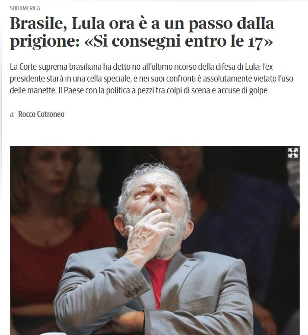 Jornais internacionais repercutem decisão de Moro sobre prisão de Lula