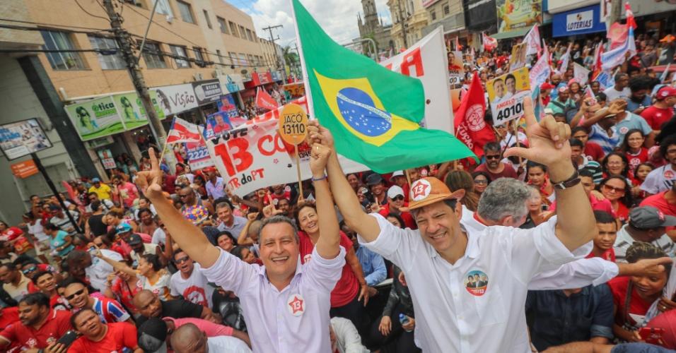 Fernando Haddad participa de marcha na Bahia por sua candidatura à presidência da República
