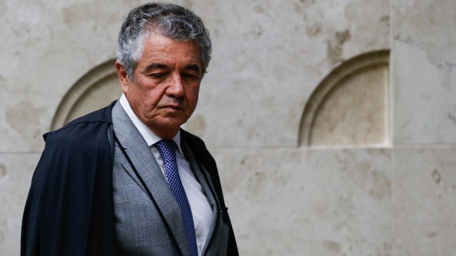 29.nov.2018 - Marco Aurélio Mello chega para julgamento de indulto de Natal - Walter Rosa/Framephoto/Estadão Conteúdo