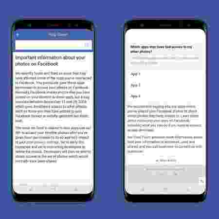 Facebook já tem ferramenta para avisar afetados por bug - Reprodução - Reprodução