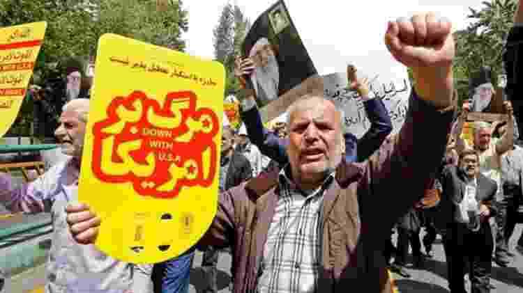 A decisão de Donald Trump de acabar com as isenções de sanções para os importadores de petróleo iranianos provocou protestos - AFP