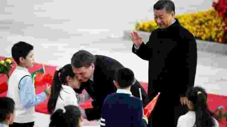 O presidente Jair Bolsonaro em visita à China - Florence Lo/Reuters - Florence Lo/Reuters