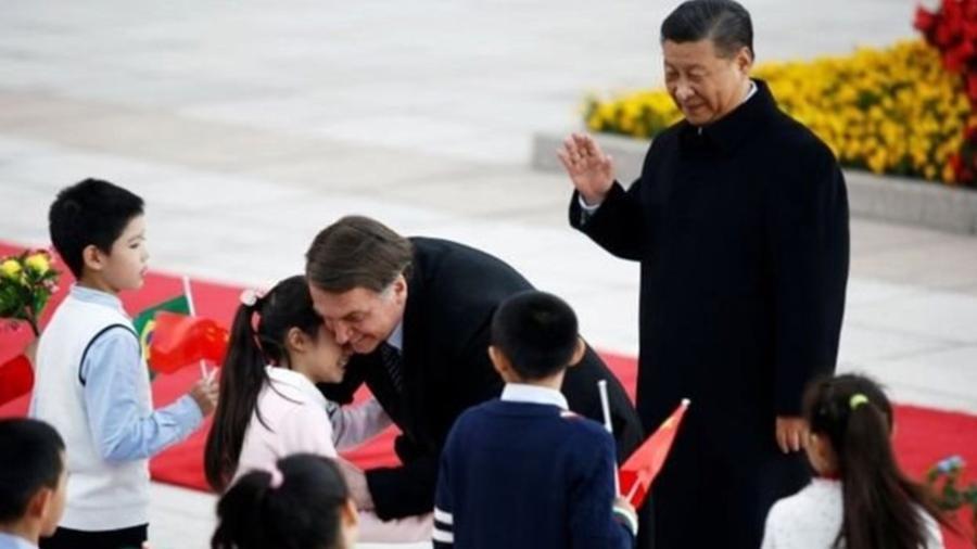 Presidente Jair Bolsonaro visitou a China já durante seu mandato - Florence Lo/Reuters