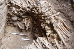 Em meio a obras | Arqueólogos encontram ossos em paredes de catedral na Bélgica