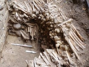 Ossos foram encontrados em paredes da catedral de São Bavão, na Bélgica - Reprodução - 13.fev.2020/Facebook/rubenwillaertbvba