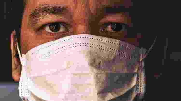 Homem com máscara - Getty Images - Getty Images