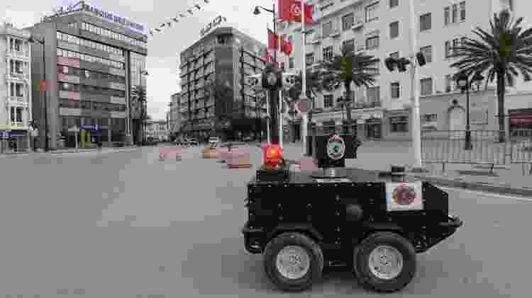 Robô policial - Tunísia - Fethi Belaid/AFP - Fethi Belaid/AFP