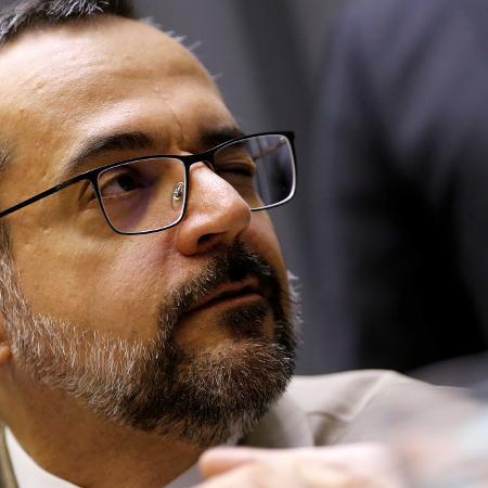 Ministro da Educação, Abraham Weintraub, na Câmara dos Deputados -