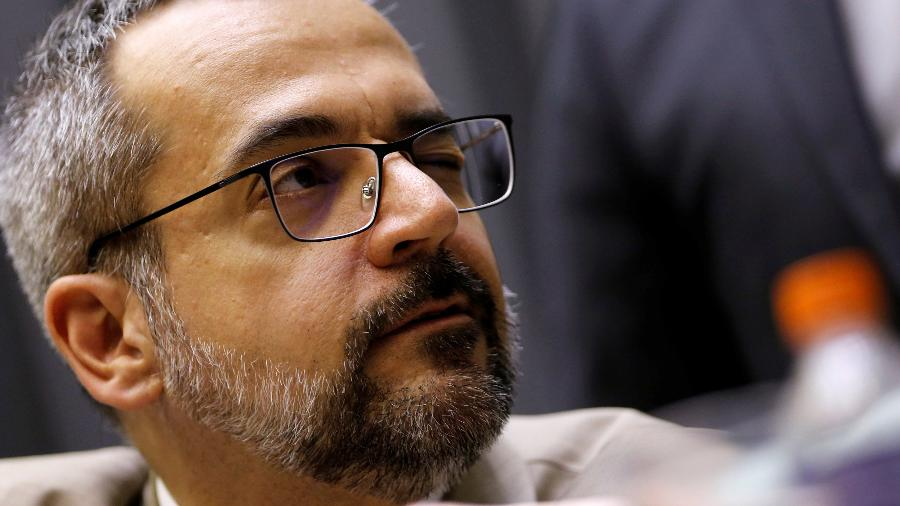 O ministro da Educação, Abraham Weintraub, na Câmara dos Deputados -