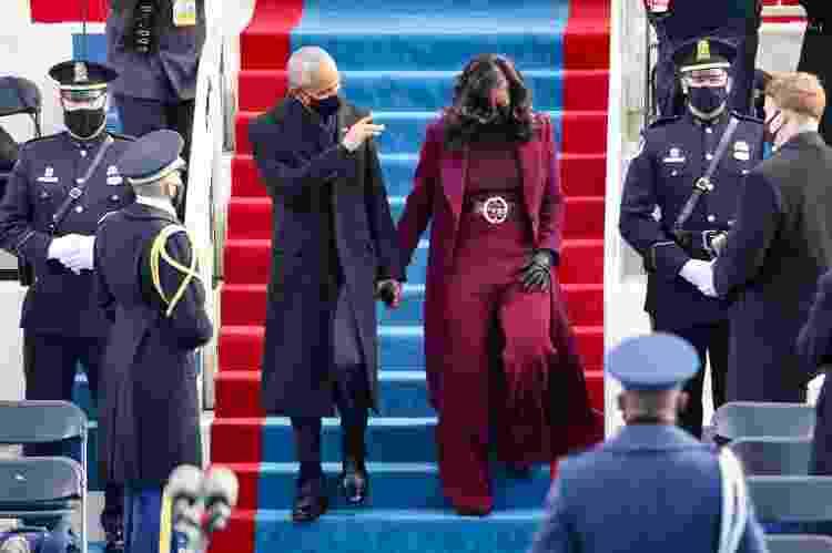 Barack Obama e Michelle Obama chegam no Capitólio para a cerimônia de posse de Biden - Rob Carr/Getty Images - Rob Carr/Getty Images