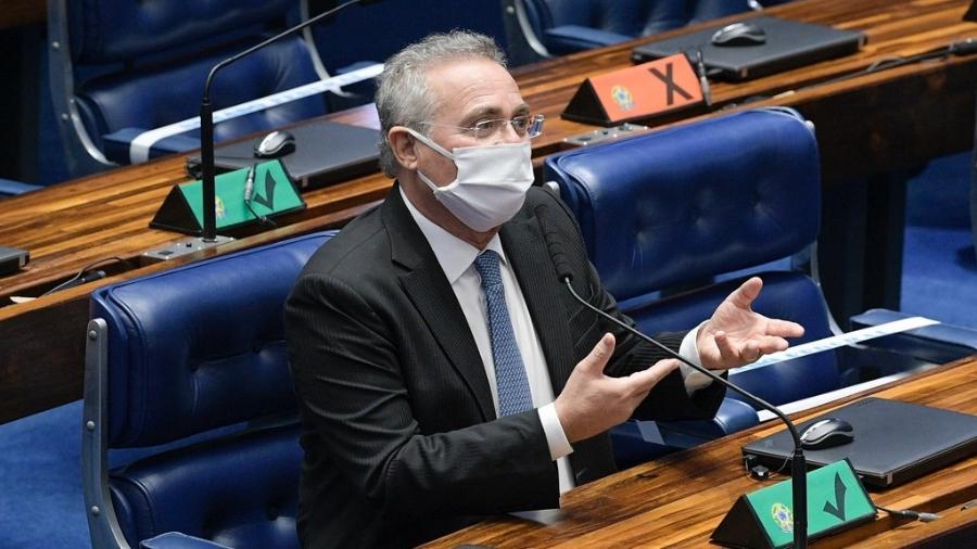 """Renan Calheiros disse que Rodrigo Pacheco """"errou demais"""" - Pedro França/Agência Senado"""