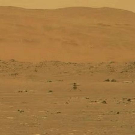 Trecho de vídeo mostra Ingenuity pairando sobre a superfície de Marte - Nasa
