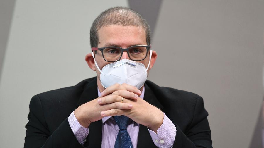 Pedro Hallal em depoimento à CPI da Covid - Jefferson Rudy/Agência Senado