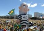 Boneco inflável de Lula vira celebridade para viagens pelo país  (Foto: Alan Marques/Folhapress)