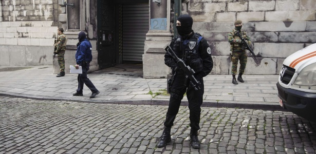 Na Bélgica, armas são encontradas em casa de suspeito de terrorismo - Nicolas Lambert/AFP