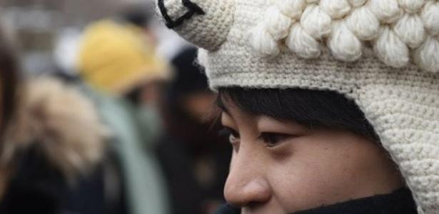 """A campanha de Qiu Bai começou em 2014, quando encontrou livros classificando homossexualidade como """"distúrbio"""" - AFP"""
