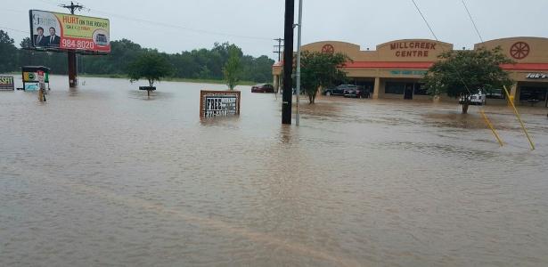 12.ago.2016 - Enchente em Lafayette Parish, no Estado da Louisiana (EUA)