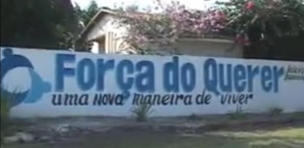 Fachada do centro terapêutico Força do Querer, na ilha de Mosqueiro, em Belém do Pará