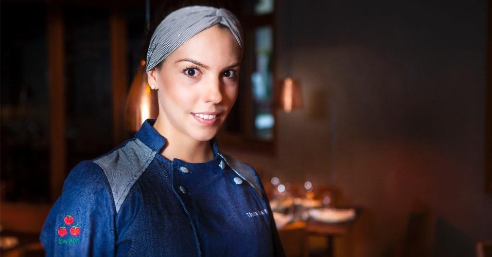 Chef Tássia Magalhães, dona do restaurante Pomodori, em São Paulo