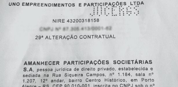 Alteração contratual Uno - Reprodução - Reprodução