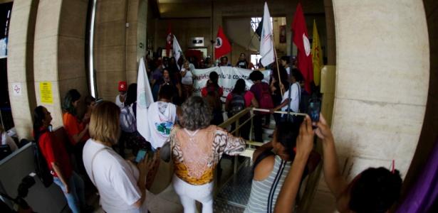 Sede do INSS é ocupada na capital paulista - Rogerio Cavalheiro/Futura Press/Estadão Conteúdo
