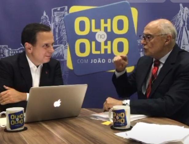"""Doria entrevista o vereador Eduardo Suplicy em seu programa """"Olho no Olho"""""""