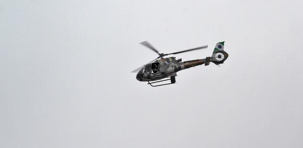 Perseguição mobilizou até helicóptero da Polícia Militar do Paraná nesta segunda - Divulgação/PM-PR
