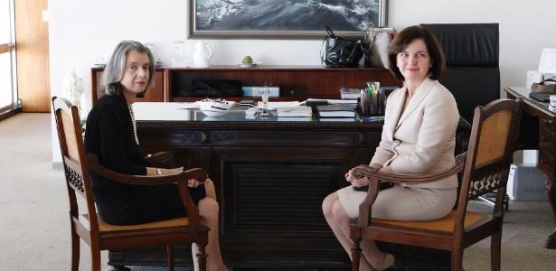 Futura procuradora-geral da República, Raquel Dodge (d), visita a presidente do Supremo Tribunal Federal (STF), Cármen Lúcia